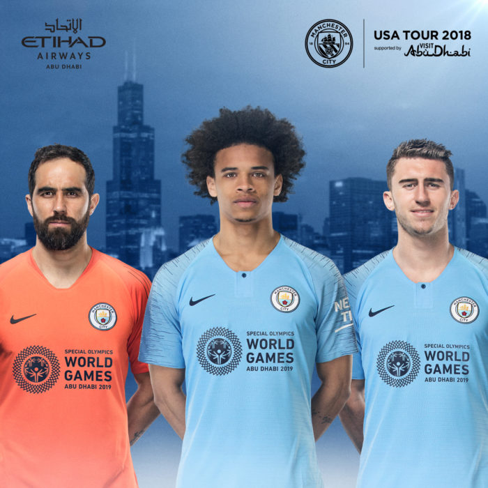 new style 25f07 aff32 Special Olympics 2019 logo to appear on Manchester City kit