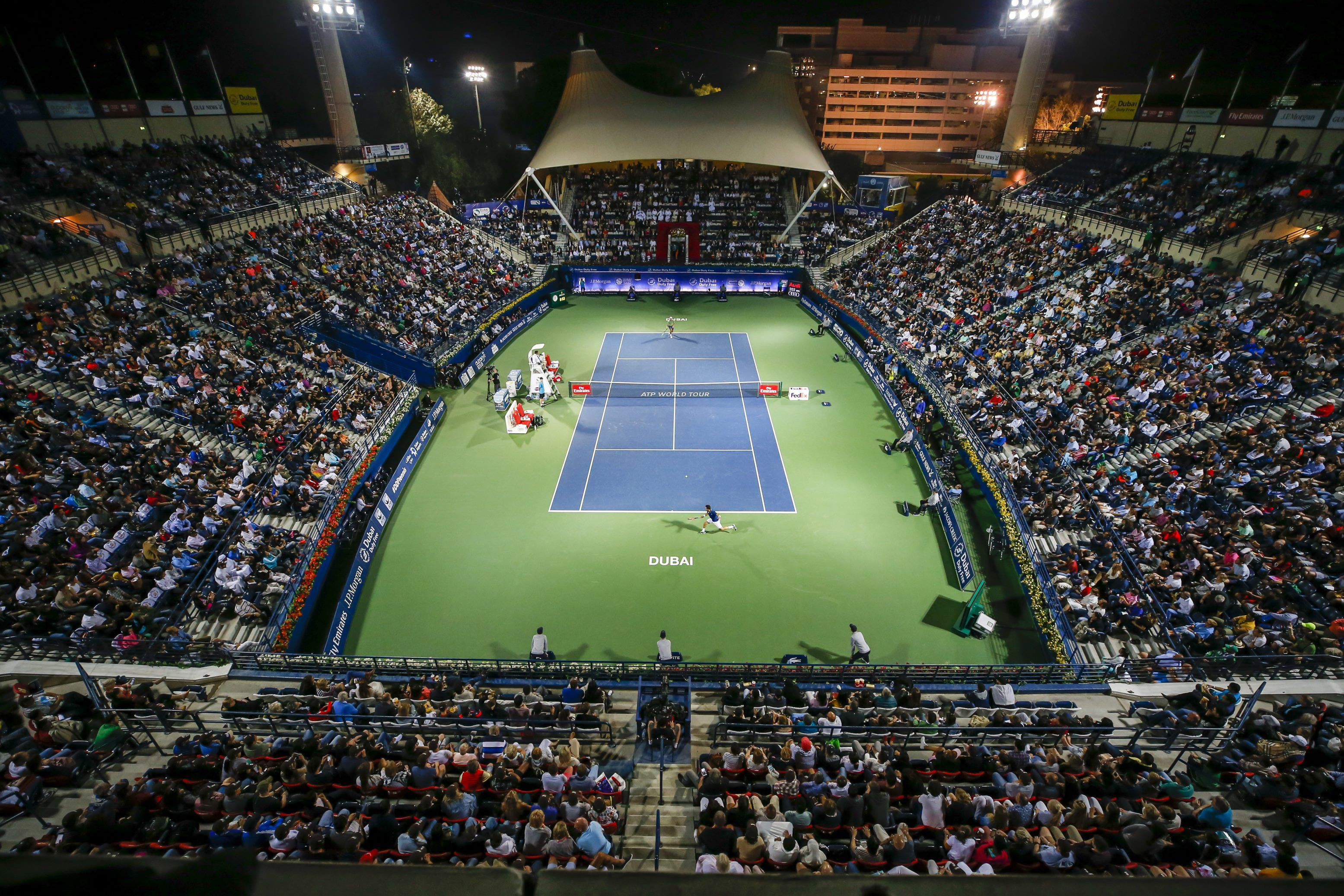 Packed Dubai Duty Free Tennis Stadium Sport Industry Series