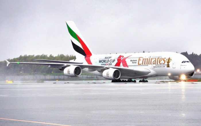Emirates Rugby World Cup 2019 plane